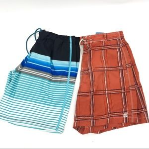 Men's Swim Trunks 2 pair bundle